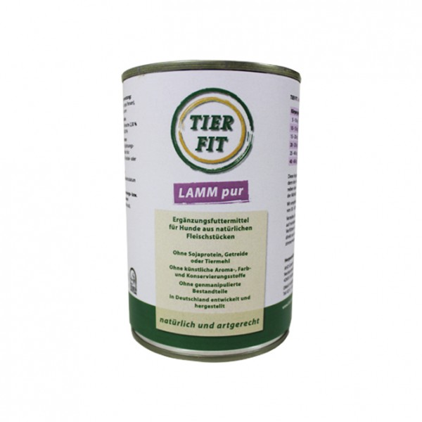 TierFit Lamm pur ohne Zusatz von Vitaminen und Mineralstoffen