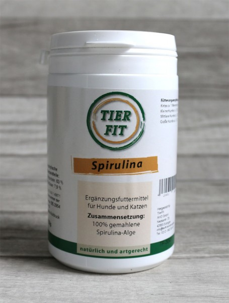TierFit Spirulina gemahlene Alge