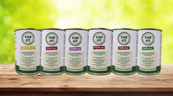 TierFit Pur Fleischdosen 400 g Testpaket