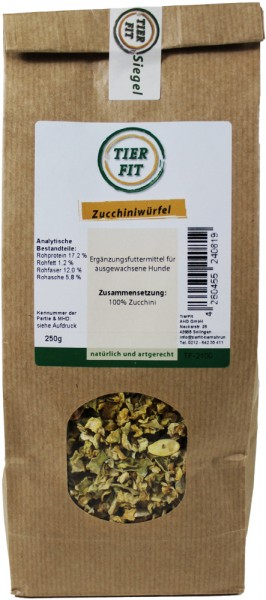 TierFit Zucchiniwürfel 250g