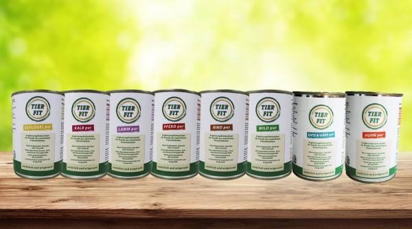 TierFit Pur Fleischdosen 800 g Testpaket
